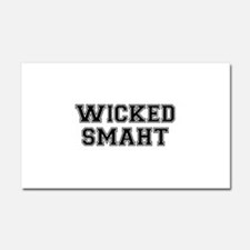 Wicked Smart (Smaht) College Car Magnet 20 x 12