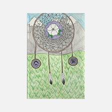 Cherokee Rose Dream Catcher Rectangle Magnet