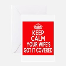 Keep Calm Wife Greeting Card