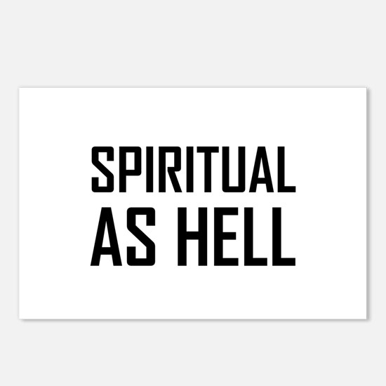 Spiritual As Hell Postcards (Package of 8)