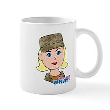 Air Force Camo Head Blonde Mug