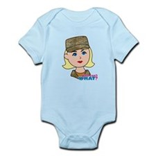 Air Force Camo Head Blonde Infant Bodysuit