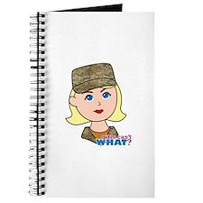 Air Force Camo Head Blonde Journal