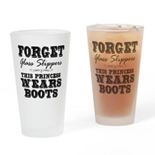 This Princess Wears Boots! Drinking Glass