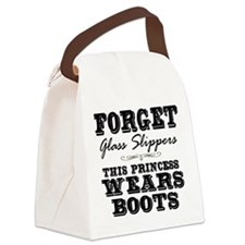 This Princess Wears Boots! Canvas Lunch Bag