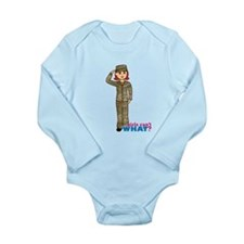 Air Force Camo Light/Red Long Sleeve Infant Bodysu