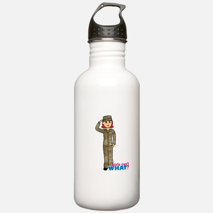 Air Force Camo Light/Red Water Bottle