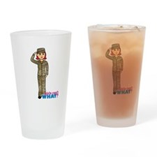 Air Force Camo Light/Red Drinking Glass