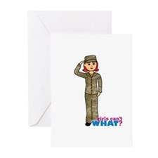 Air Force Camo Light/Red Greeting Cards (Pk of 10)