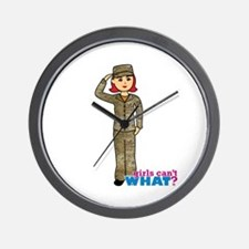 Air Force Camo Light/Red Wall Clock