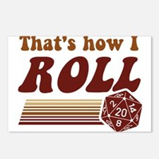 Thats How I Roll Fantasy Gaming d20 Dice Postcards