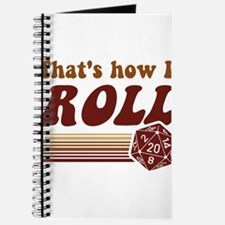 Thats How I Roll Fantasy Gaming d20 Dice Journal