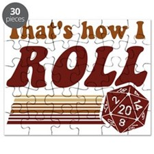 Thats How I Roll Fantasy Gaming d20 Dice Puzzle