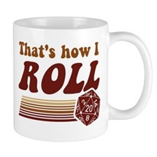 Thats How I Roll Fantasy Gaming d20 Dice Mugs