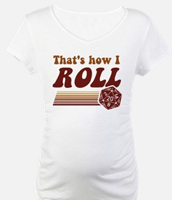 Thats How I Roll Fantasy Gaming d20 Dice Shirt