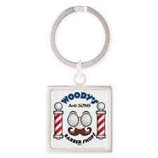 Woody's Square Keychain