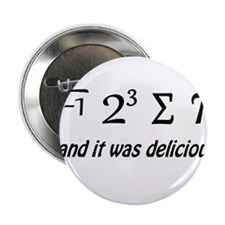 """I Ate Some Pie and It Was Delicious 2.25"""" Button"""