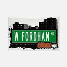 W Fordham Rd, Bronx, NYC Rectangle Magnet