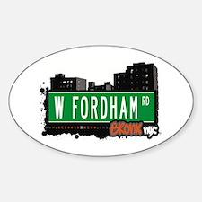 W Fordham Rd, Bronx, NYC Oval Decal