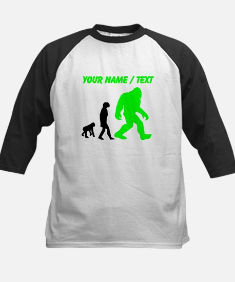 Custom Bigfoot Evolution (Green) Baseball Jersey