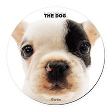 French Bulldog Round Car Magnet