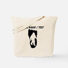 Custom Bigfoot Footprint Tote Bag
