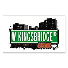 W Kingsbridge Rd, Bronx, NYC Rectangle Decal