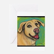 Yellow Lab Sophie Greeting Card