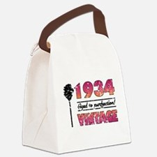 1934 Vintage (Palm Tree) Canvas Lunch Bag