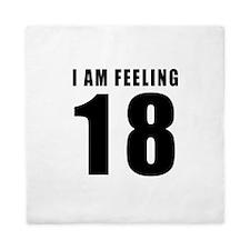 I am feeling 18 Queen Duvet