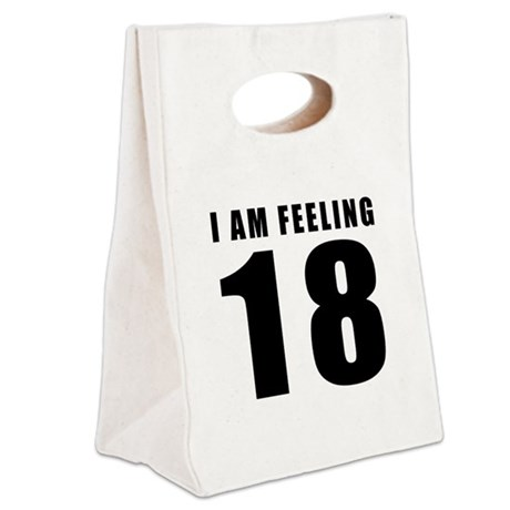 I am feeling 18 Canvas Lunch Tote