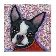 Boston Terrier Peggy Tile Coaster