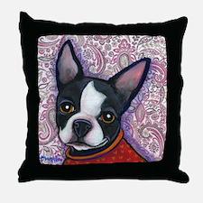Boston Terrier Peggy Throw Pillow