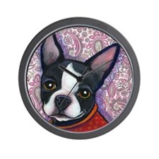 Boston Terrier Peggy Wall Clock
