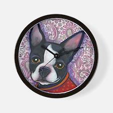 Boston Terrier Peggy Wall Clock