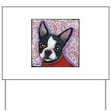 Boston Terrier Peggy Yard Sign
