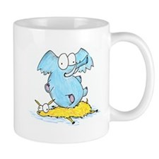 elephant squishing llama Mugs