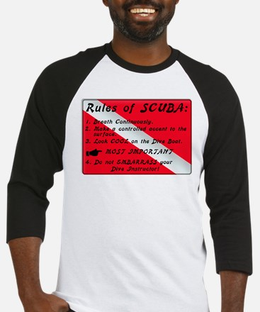 Rules of SCUBA Baseball Jersey