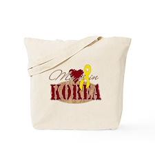 My Heart is in Korea Tote Bag