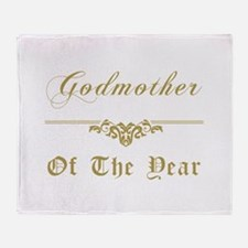 Godmother Of The Year Throw Blanket