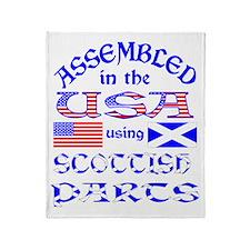 USA / Scottish Parts Throw Blanket