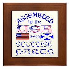 USA / Scottish Parts Framed Tile