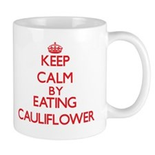 Keep calm by eating Cauliflower Mugs