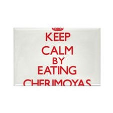 Keep calm by eating Cherimoyas Magnets