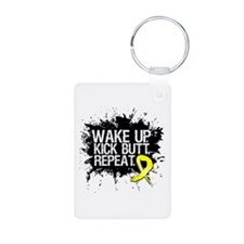 Ewing Sarcoma Kick Butt Aluminum Photo Keychain
