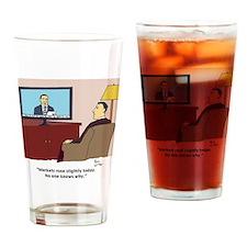 markets rose Drinking Glass