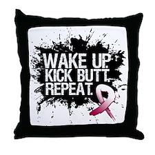 Head Neck Cancer Kick Butt Throw Pillow