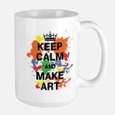 Keep Calm and Make Art Mugs