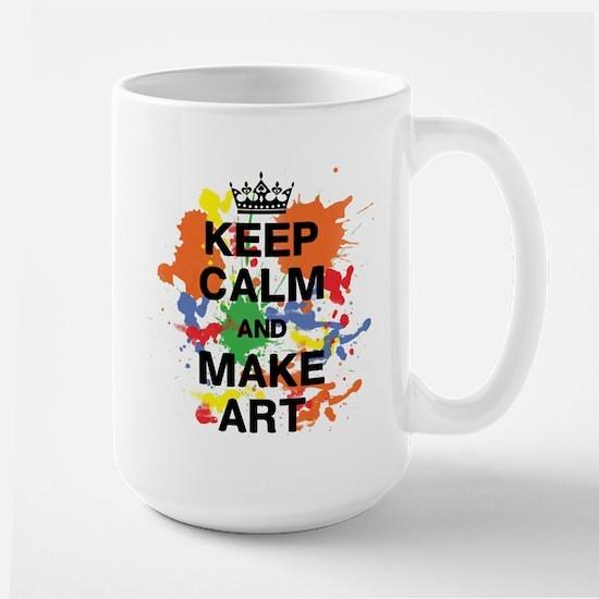 Keep Calm and Make Art Mugs