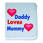 DADDY LOVES MOMMY baby blanket